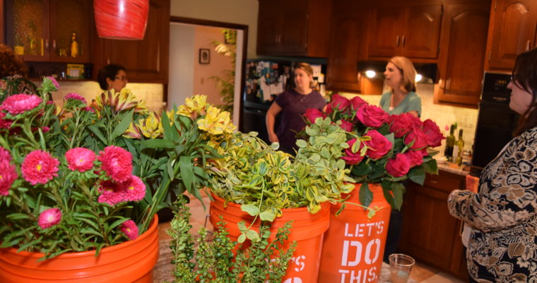 Host a Flower Arranging Spring Party
